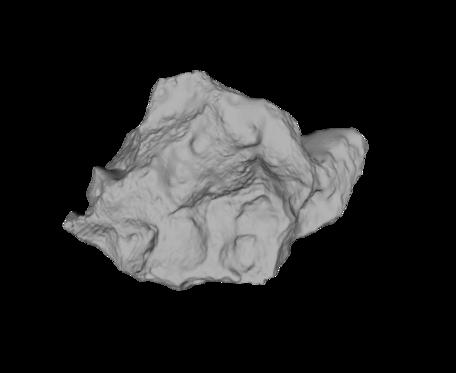 Image of Campo Del Cielo Meteorite, rendering.